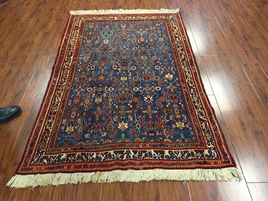 Antique Rug Hand Woven Persian Ghashghaei (Free Fedx) #572