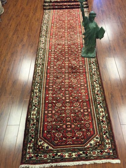 Antique Rug Hand Woven Persian Hamadan (Free Fedx) #259