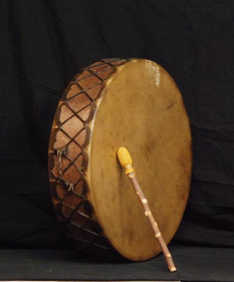 "Handmade Navajo Indian Drum 21"", 5-lbs"
