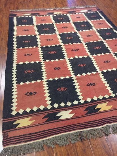 Antique Hand Woven Afghan Kilim (Free Fedx) #4007