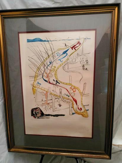 """RARE Salvador DALI  H.C Les Montres Gelatines De l'espace 52x40"""", 22-LBS"""