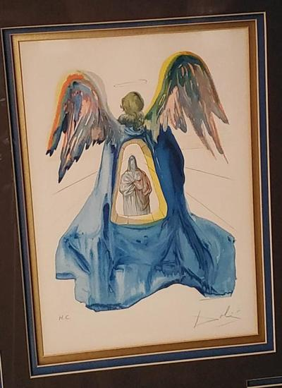 "RARE Salvador DALI H.C  The Enlightened Dante 18x15"", 4-LBS"