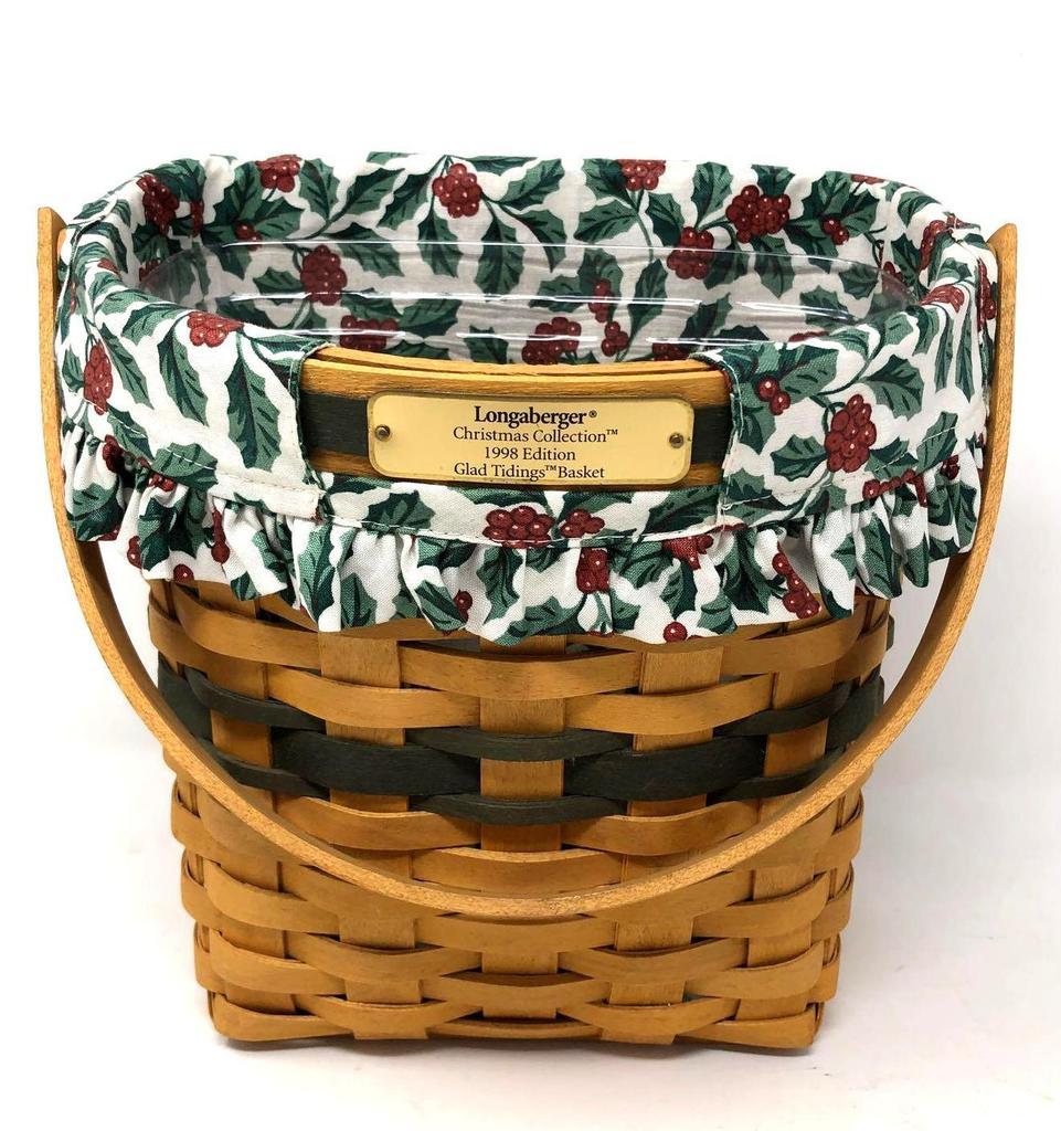 Longaberger Christmas Basket.Longaberger Glad Tiding Christmas Basket Art Antiques