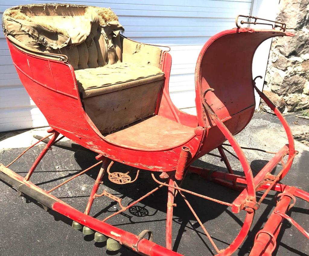 Antique Portland Cutter Sleigh With