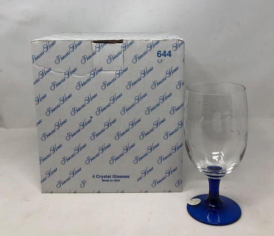 Princess House Crystal Ice Tea Glasses