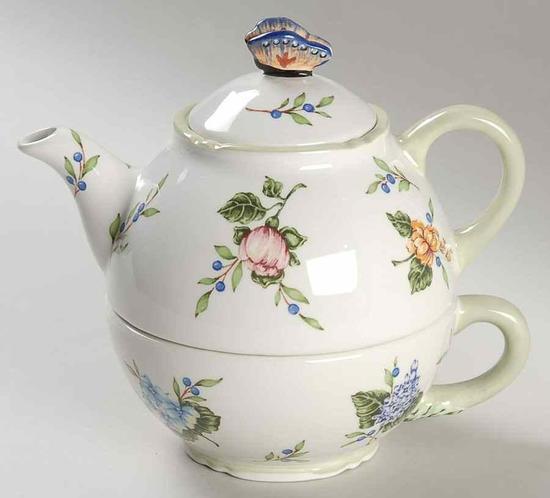 Princess House Vintage Garden Tea Pot