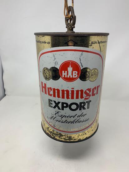 Henninger Export Beer Can Style Chandelier Light