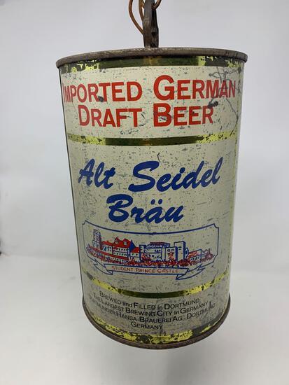 Alt Seidel Brau Beer Can Style Chandelier Light