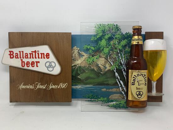 Ballantine Beer Wall Hanging Advertisement