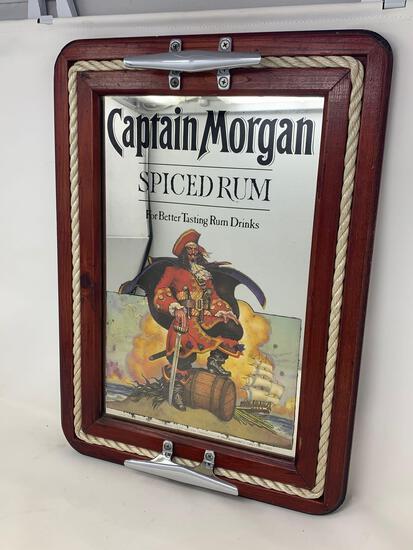 Captain Morgan Spiced Rum Advertising Mirror