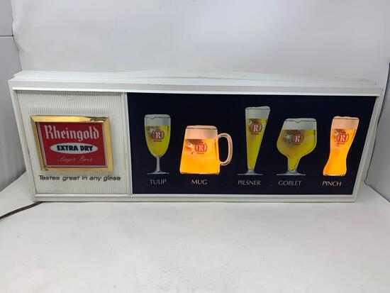 Rheingold Extra Dry Wall Mount Advertising Light