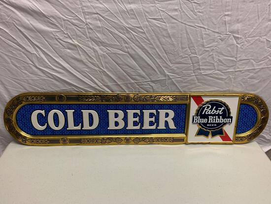 Pabst Blue Ribbon Cold Beer Advertisement