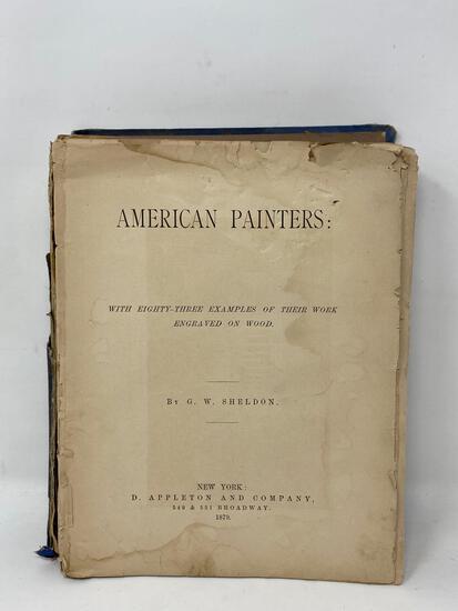 """American Painters"" 1879 Book"
