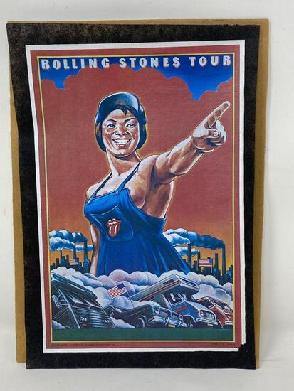 Rolling Stones Lithograph Tour Poster
