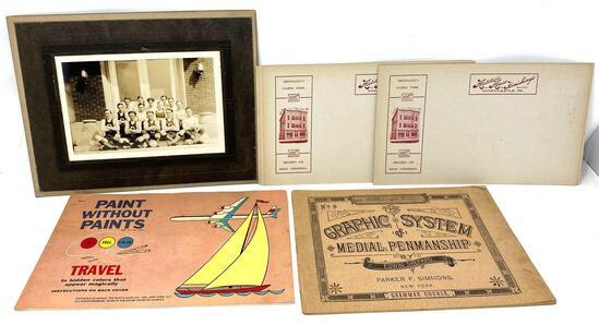 Vintage Literature, Advertising, Antique Team Photo