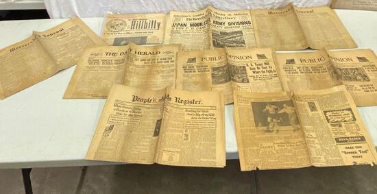 Early 1900's Newspapers