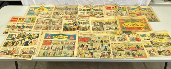 Mid Century Newspaper Comics Pages, 1950's and '60's