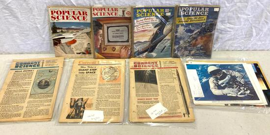 Popular Science Magazines, 1940's, Current Science, 1950's