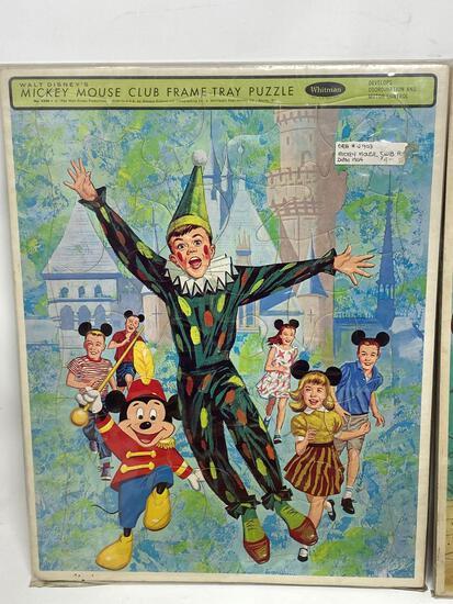 SIX Vintage Puzzles, Large Piece Frame Tray, Children's