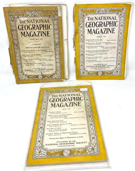 Early to Mid 1900's National Geographic Magazines