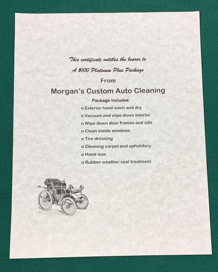 Automobile Detailing Gift Certificate