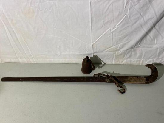 Antique Beam, Balance Scale, Weight