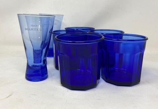 Assorted Cobalt Drinking Glasses