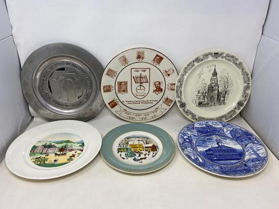 Collector Plates, China and Pewter