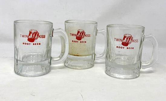 Twin Kiss Root Beer Mugs