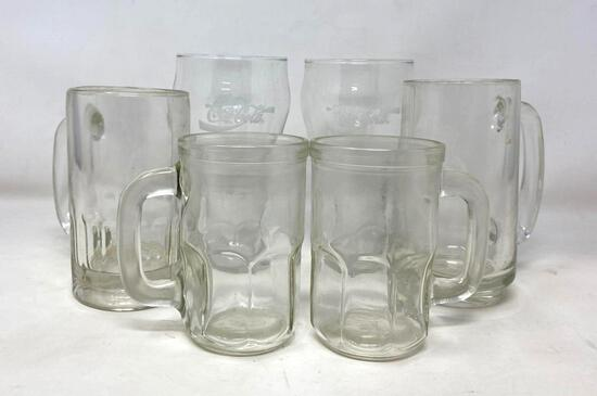 Clear Glass Mugs and Coca Cola Glasses