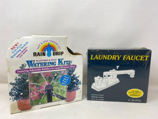 NEW Items: Rain Drip Watering Kit and Aqua Touch Laundry Faucet