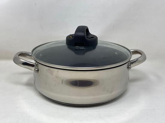 Cook's Essential, 4 qt, Stainless Steel, Non stick, Pot with Lid