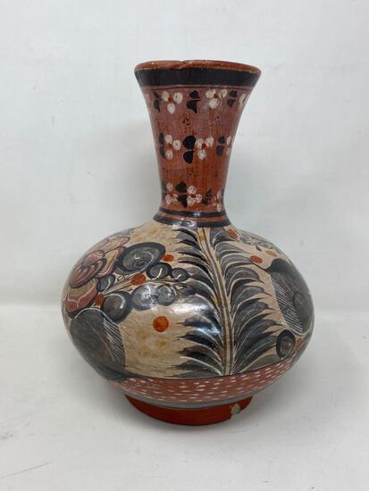 Floral & Leaf Decorated Vase