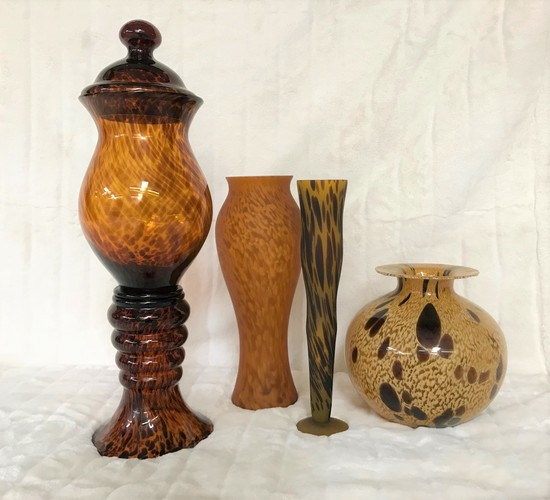 Decorative Glass Urn and Vases