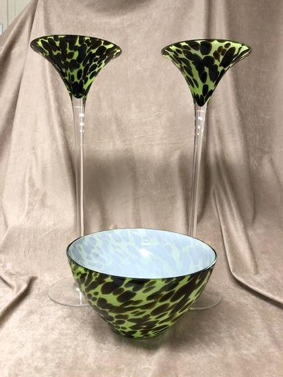 3pc Art Glass