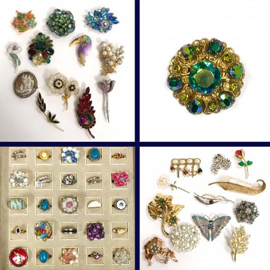 Diamond, Vintage & Costume Jewelry Auction
