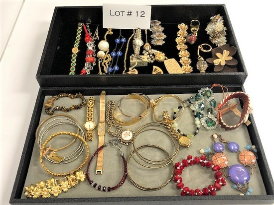 Lot of Vintage Bracelets, Watches, Costume Jewelry
