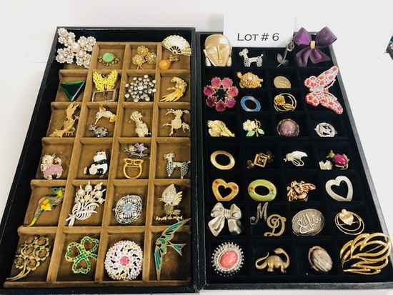 Approx 55 Vintage and Costume Broaches