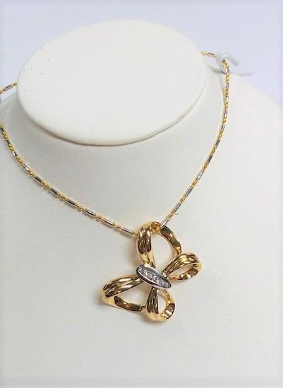 14kt Gold and Diamond Pendant