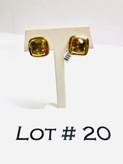 18kt Gold and Sterling David Yurman Earrings