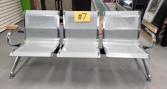 3- Seat Metal Bench