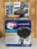 INTEX TWIN AIR BED AND KINGSFORD GRILL