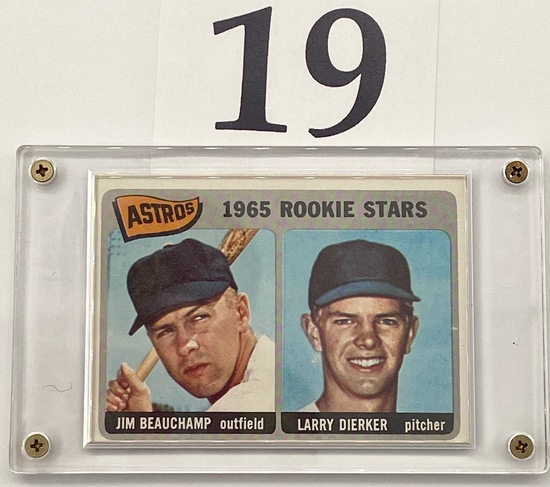 1965 ASTROS JIM BEAUCHAMP AND LARRY DIERKER ROOKIE CARD