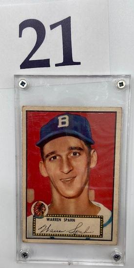 1952 WARREN SPAHN TOPPS CARD