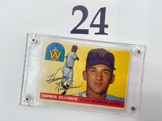 1955 HARMON KILLEBREW WASHINGTON NATIONALS CARD