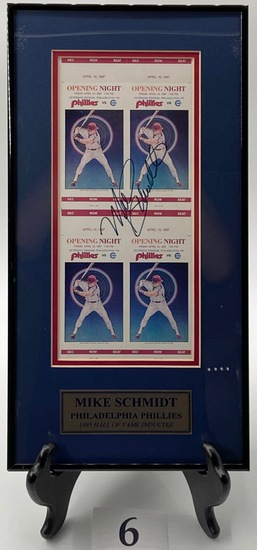 SIGNED MIKE SCHMIDT TICKETS