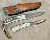 (2) PIECE CUSTOM CHURCHMAN KNIFE