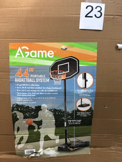 "A GAME 44"" PORTABLE BASKETBALL SYSTEM GOAL"