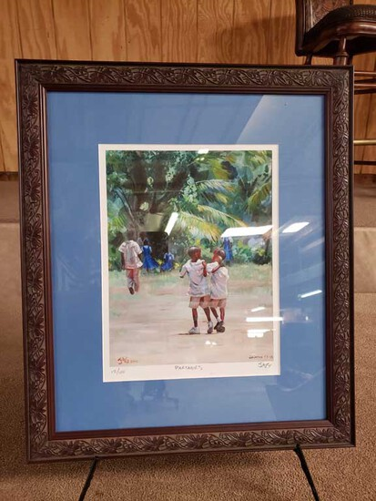 "Framed ""Partners"" by Jonathan Guy-Gladding (JAG) 12/100 with COA"