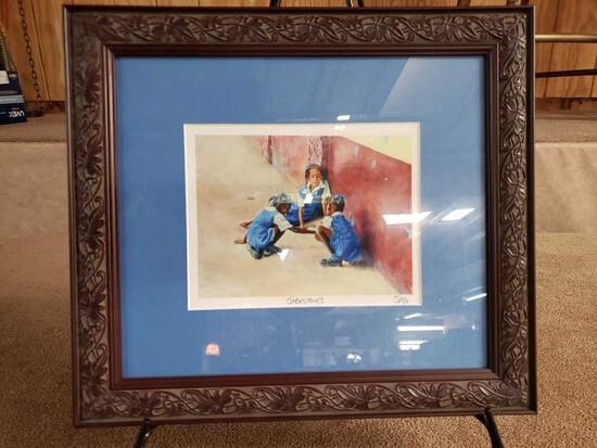 "Framed ""Jack Stones"" by Jonathan Guy-Gladding (JAG) Print"